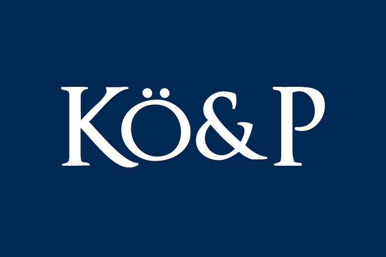 <strong>KÖ&amp;P<span><b>Diseño de logotipo</b></span></strong><i>&rarr;</i>