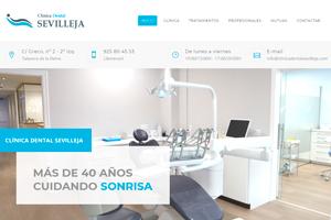 <strong>Clínica Sevilleja clinicadentalsevilleja.com<span></span></strong><i>→</i>