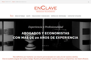 <strong>Enclave Asesores www.enclave-asesores.es<span></span></strong><i>→</i>